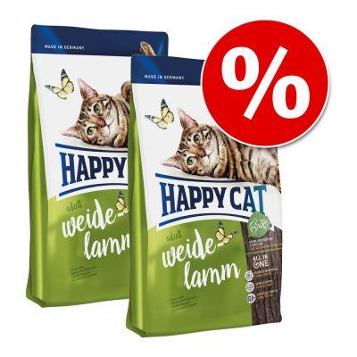 Säästöpakkaus 2 x Happy Cat edullisessa tuplapakkauksessa! - 2 x 4 kg Happy Cat Sensitive Grainfree Rabbit