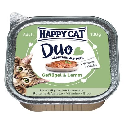 Happy Cat Duo Paté -rasiat 12 x 100 g - siipikarja & nauta