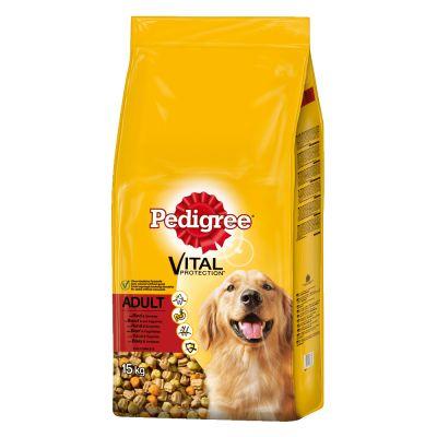 Pedigree Adult con buey y verduras pienso para perros - 2 x 15 kg - Pack Ahorro