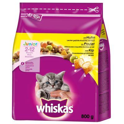 Whiskas Junior Chicken - säästöpakkaus: 2 x 1,9 kg