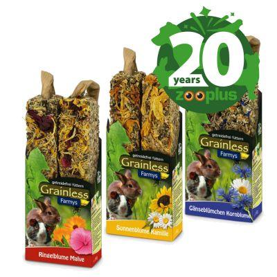 JR Farm Farmy's Grainless Mixed Pack -juhlaerä 3 x 2 kpl: 2 + 1 kpl - 3 x 2 kpl (3 makua, 140 g kutakin)