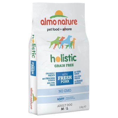 Almo Nature Holistic Grain Free Medium/Large – Adult Pork & Potatoes – 12 kg