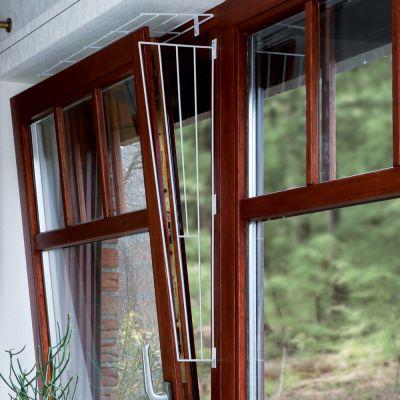 Trixie Schutzgitter für Kippfenster - Ausführung 4: Komplettset Schutz oben & seitlich (3 Teile)