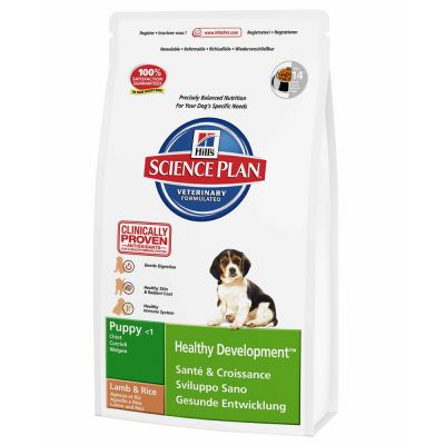Hill's Science Plan Puppy Healthy Development Lamb with Rice – 12 kg