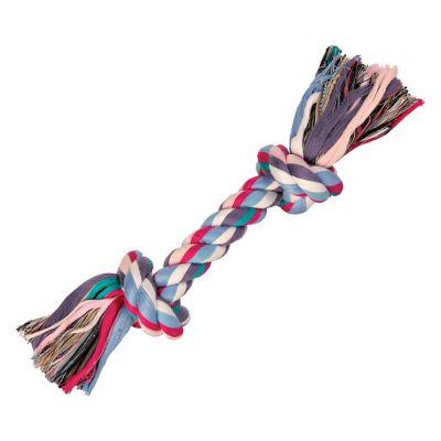 Trixie Hundespielzeug Spieltau Bunt - 26 cm mit 2 Knoten, 125 g