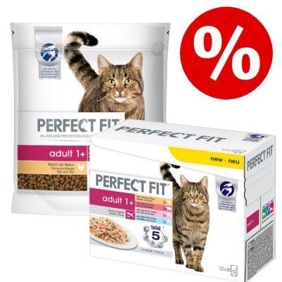 4 x 1,4 kg Perfect Fit + 48 x 85 g Perfect Fit -märkäruokalajitelma erikoishintaan! - Sensitive 1+ Turkey