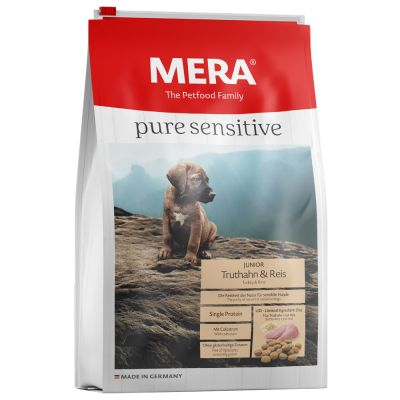 MERA pure sensitive Junior Turkey & Rice - 12,5 kg