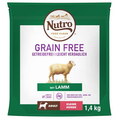 Nutro Grain Free Adult Small Breed Lamb - 4 x 1,4 kg