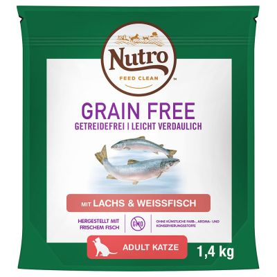 Nutro Grain Free Adult Salmon & White Fish - 1,4 kg