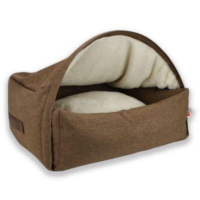 Sleepy Fox® -koiranmaja, ruskea - S: P 55 x L 65 x K 40 cm