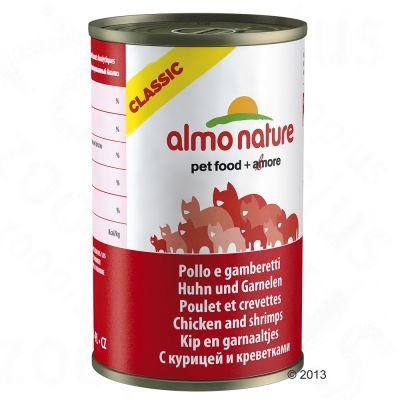 Almo Nature Classic 6 x 140 g – Tonfisk, kyckling & skinka