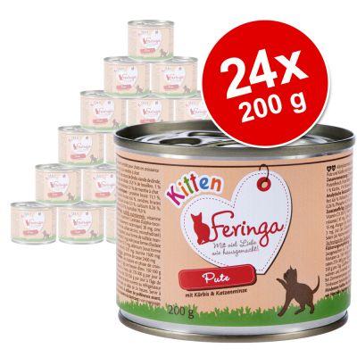 Feringa Kitten -säästöpakkaus 24 x 200 g - kana & vasikka