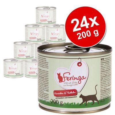 Feringa Classic Meat Menu -säästöpakkaus 24 x 200 g - ankka, vasikka, parsakaali & voikukka