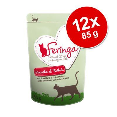 Feringa Pouch 12 x 85 g - ankka, vasikka & parsakaali