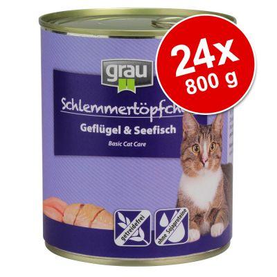 Grau Gourmet viljaton -säästöpakkaus 24 x 800 g – kalkkuna & lammas