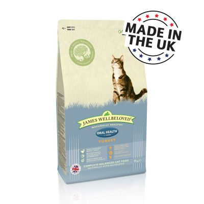 james-wellbeloved-adult-cat-oral-health-kalkun-okonomipakke-2-x-4-kg