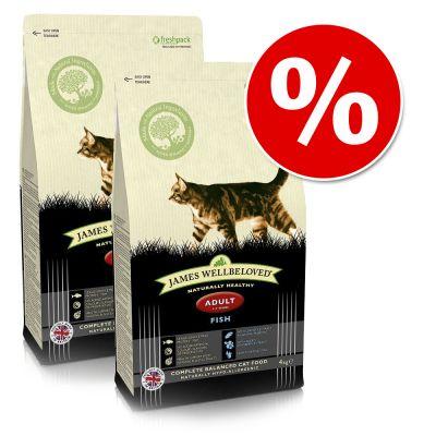 Ekonomipack: 2 x James Wellbeloved kattfoder till lågpris! – Senior Fish (2 x 4 kg)