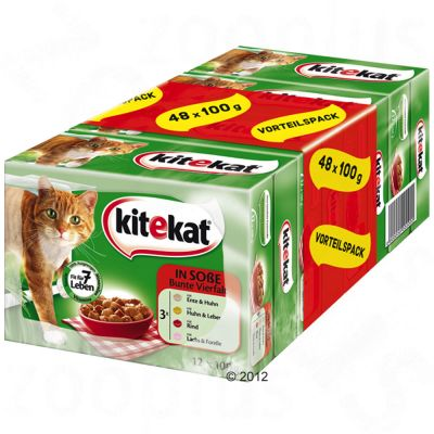 kitekat-portiezakjes-kattenvoer-48-x-100-g-landpicknick-in-saus