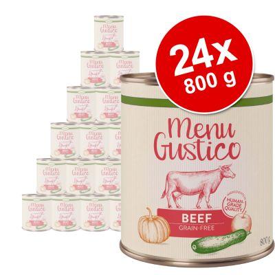 """Lukullus """"Menu Gustico"""" -säästöpakkaus 24 x 800 g - mix: kalkkuna, nauta, kana + ankka"""
