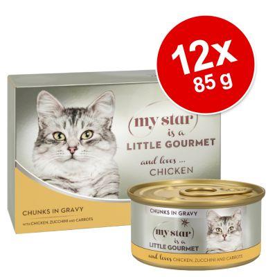 My Star is a little Gourmet - Chunks in Sauce 12 x 85 g - kana, kesäkurpitsa & porkkana