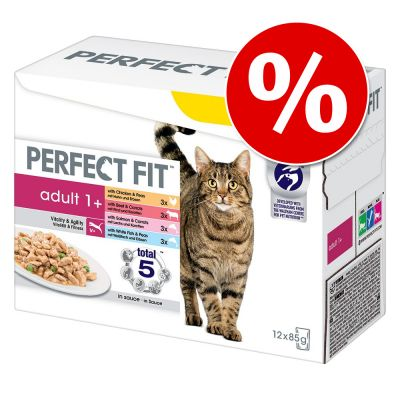 Perfect Fit kissanruoka 12 x 85 g erikoishintaan! - 12 x 85 g