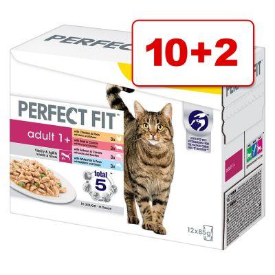 Perfect Fit kissanruoka 12 x 85 g: 10 + 2 pussia kaupan päälle! - 12 x 85 g