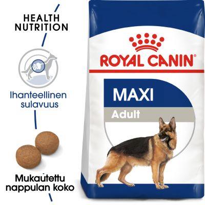 Royal Canin Maxi Adult - 15 kg + 3 kg kaupan päälle!