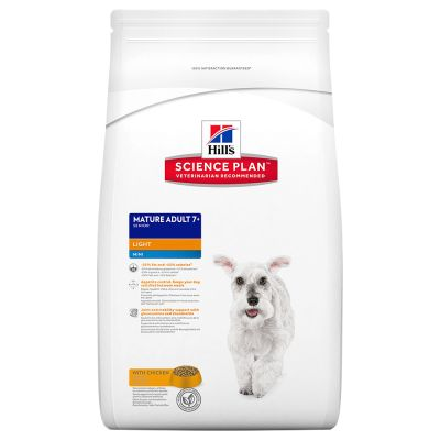 Hill's Science Plan Canine Mature Adult Light 7+ Mini Huhn