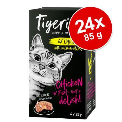 Säästöpakkaus Tigeria 24 x 85 g - kanaa lohiytimellä