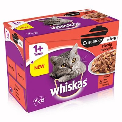 Whiskas Casserole Meaty Selection in Jelly - 12 x 85g