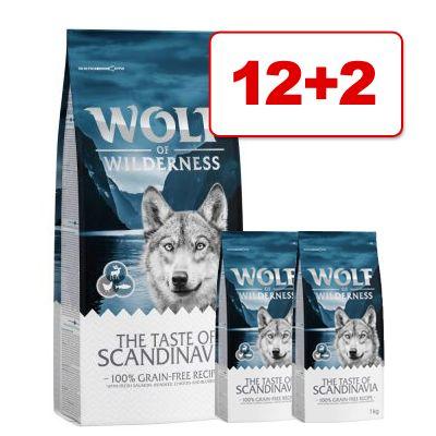 Wolf of Wilderness -kuivaruokaa: 12 kg + 2 kg kaupan päälle! - Senior Green Fields - lammas