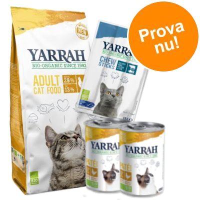 Provpack: Yarra Organic kyckling torrfoder + våtfoder + snacks - 2,4 kg torrfoder + våtfoder + snack