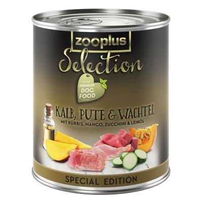 zooplus Selection telecí, krůtí křepelčí (speciální edice) 6 x 800 g