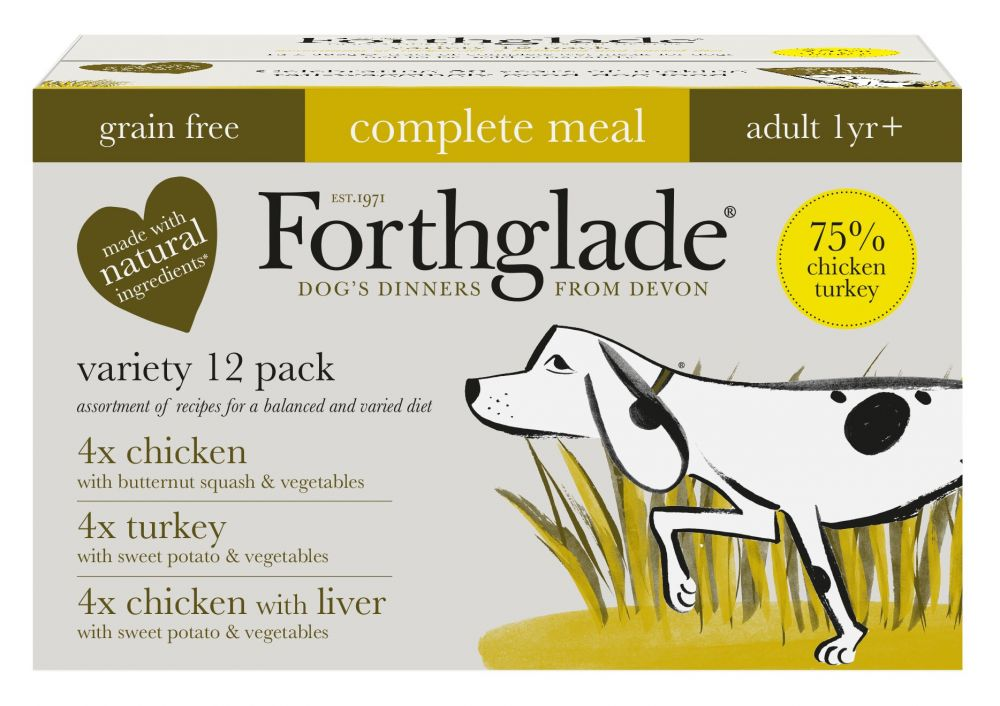 Forthglade Complete Meal Grain-Free Adult Dog – Poultry Case - 12 x 395g