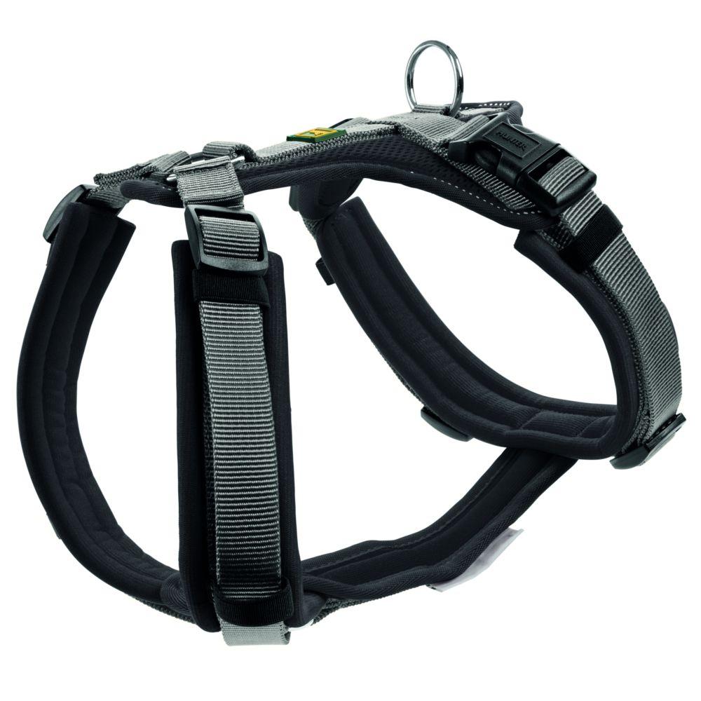 Hunter Maldon Dog Harness - Black/Grey - 60-91cm 25mm Width