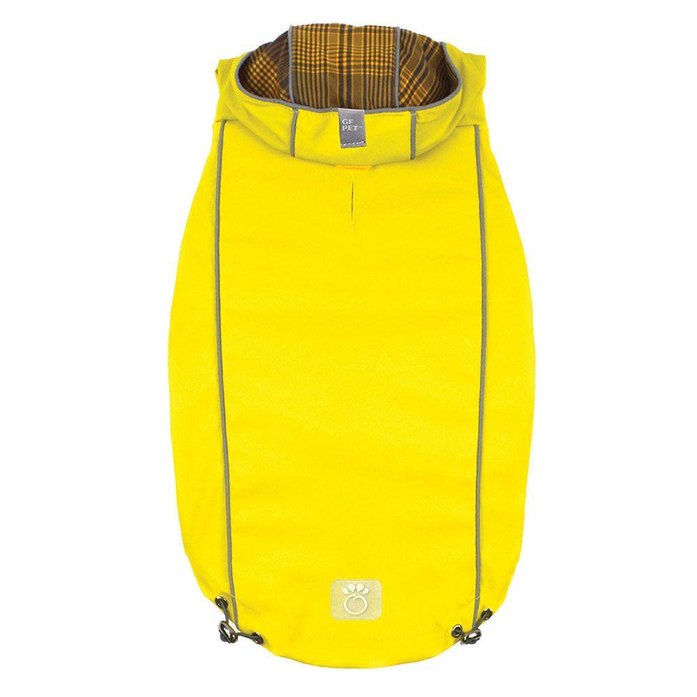 GF Pet ELASTOFIT Regenmantel gelb - ca. 33 cm Rückenlänge (Größe S)
