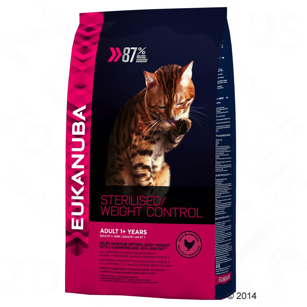 Eukanuba Sterilised / Weight Control Adult pour chat - 3 kg