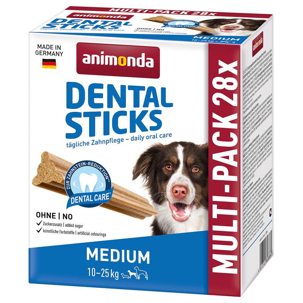 Image of Animonda Multipack Dental Sticks Medium 4 x 180 g - 4 x 180 g (28 bastoncini)