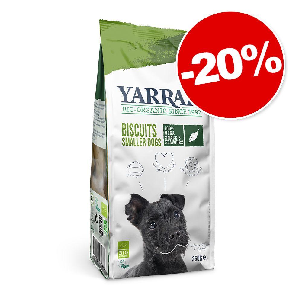 250g Biscuits végétariens Bio Yarrah pour chien: 20% de remise!
