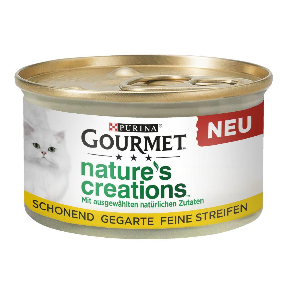 Gourmet Nature's Creations 12 x 85 g - Kyckling med spenat & tomat