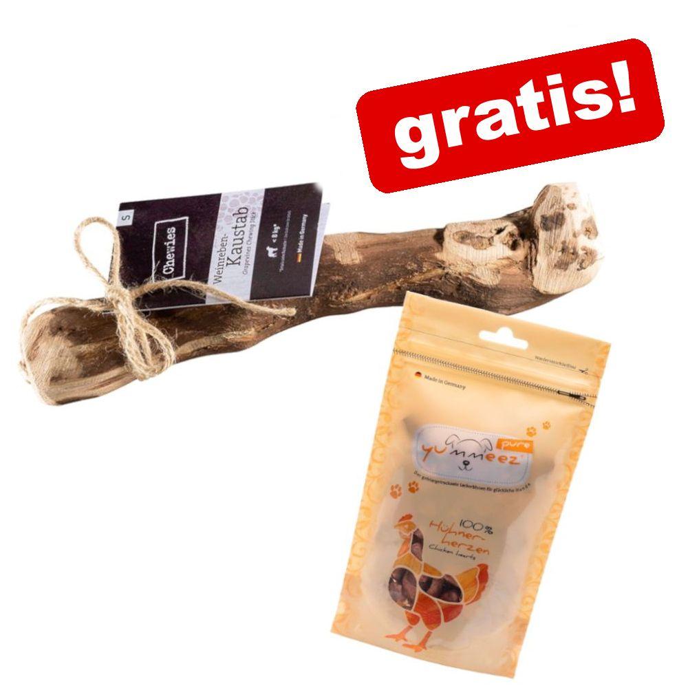 Image of Bastone di vitigno Chewies + 35 g Yummeez pure Cuori di pollo gratis! - 1 pz - S (ca. 200 g, per cani