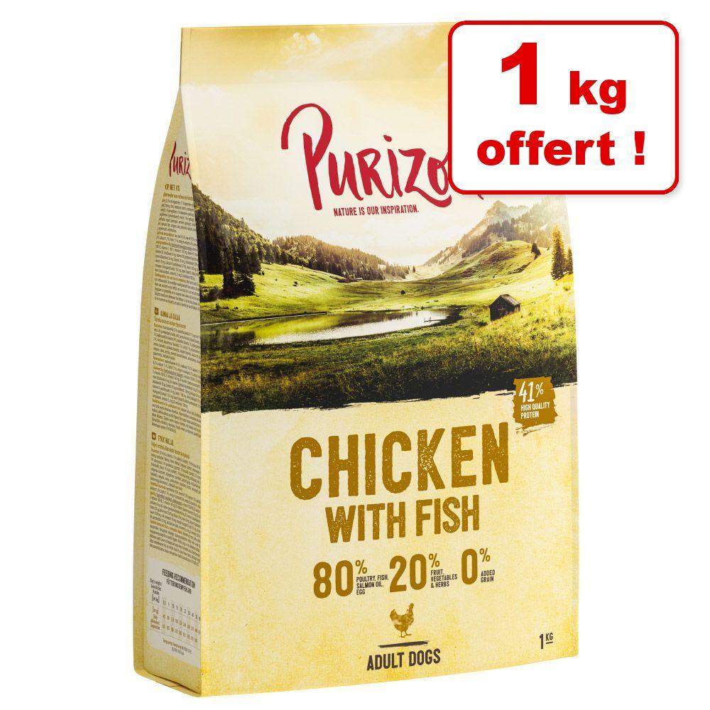Croquettes Purizon pour chien 4 kg + 1 kg offert ! - Single Meat Adult poulet, potiron