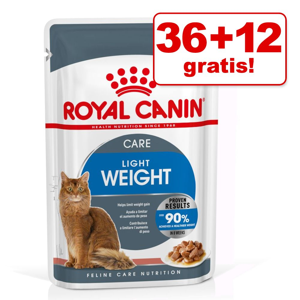 36 + 12 på köpet! 48 x 85 g Royal Canin våtfoder - Ageing 12+ i sås