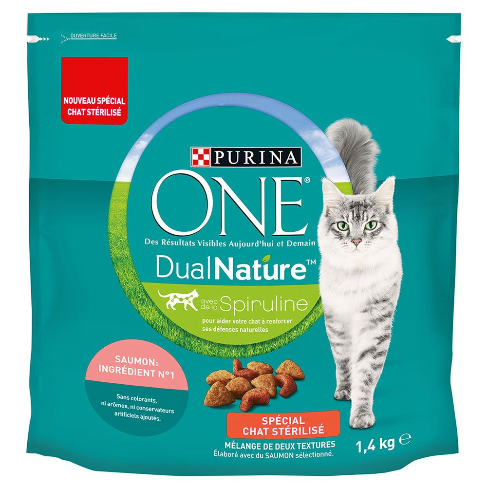 Purina ONE Dual Nature Sterilized Lax med spirulina - 1,4 kg