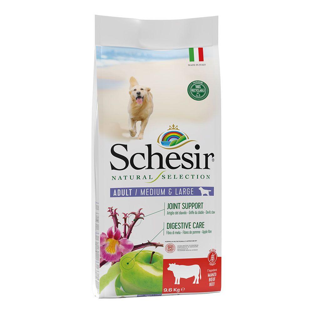 Schesir Natural Selection Adult Medium & Large mit Rind - 9,6 kg