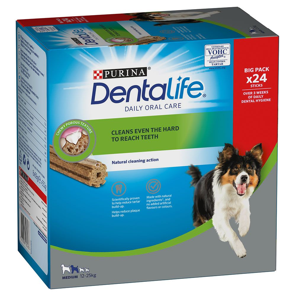 Image of Purina Dentalife Snack per igiene dentale dei cani di tg media (12 - 25 kg) - 24 Stick (8 x 69 g)