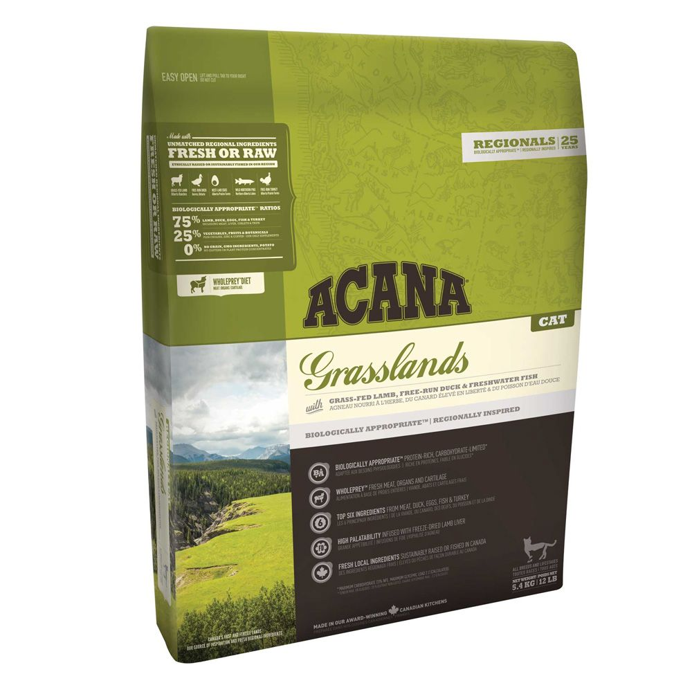 INOpets.com Anything for Pets Parents & Their Pets Acana Regionals Grasslands Dry Cat Food - 1.8kg