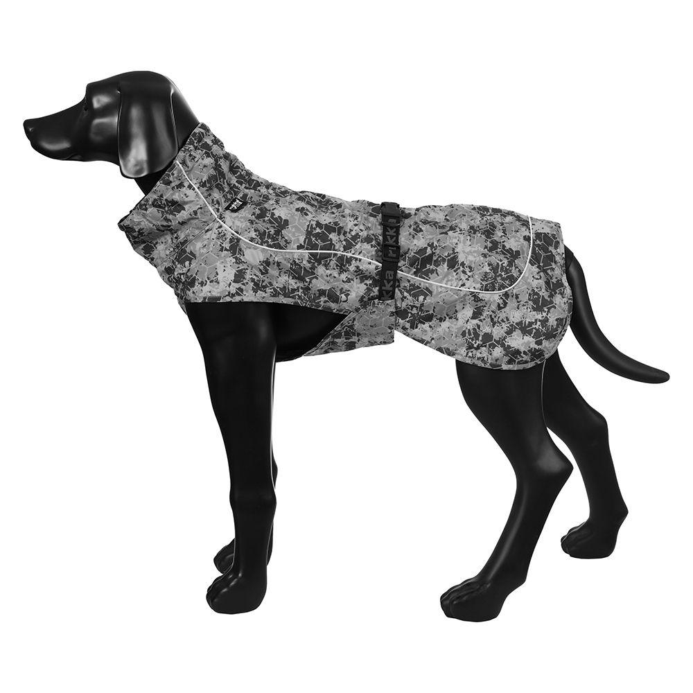 Rukka® Drizzle regnjacka, grå mönstrad - ca 35 cm rygglängd (stl. 35)