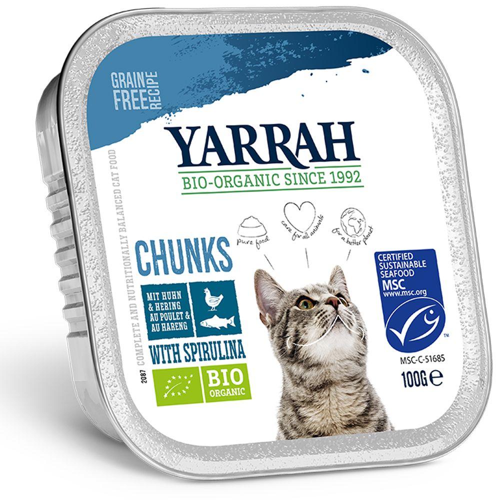 Yarrah Bio Chunks 6 x 100 g - Fisch mit Spirulina