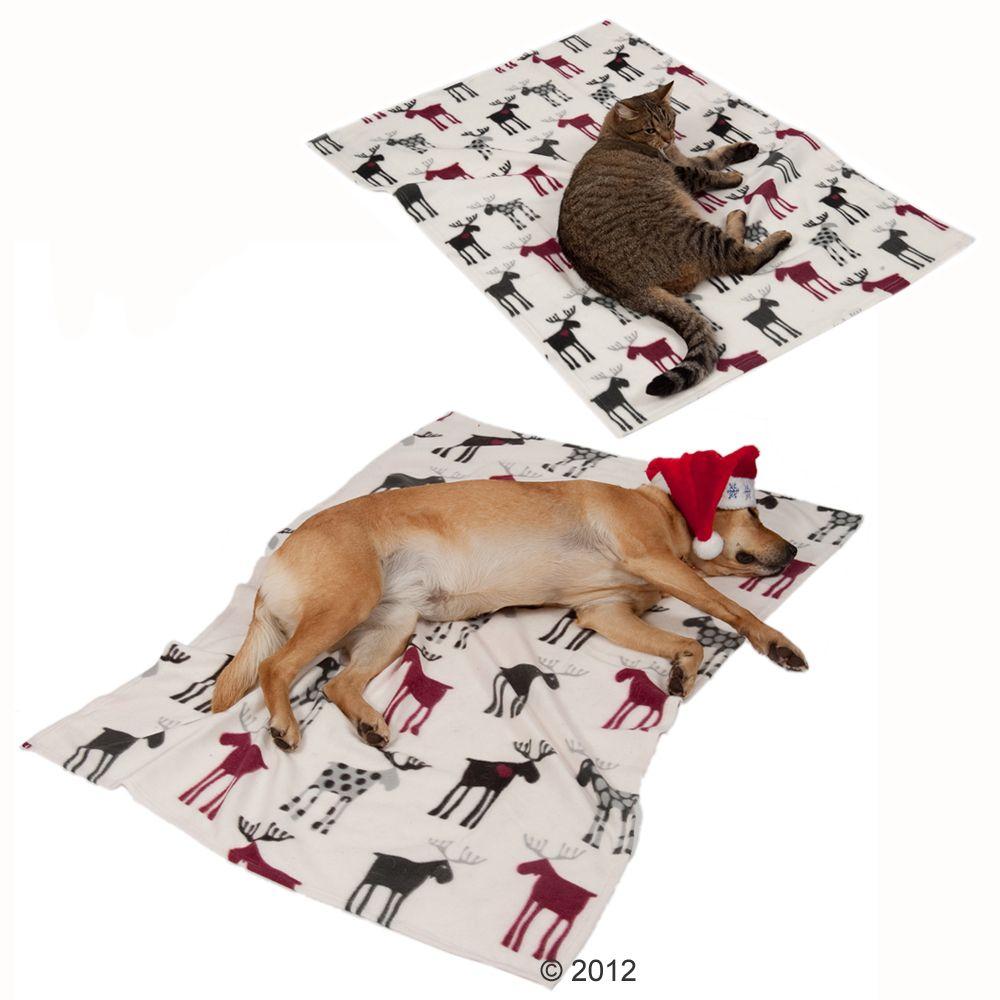 Trixie Festive Reindeer Fleece Blanket